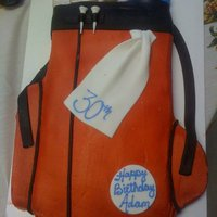 Golf Bag Buttercream with fondant accents... I'm kinda tired of making this one, LOL
