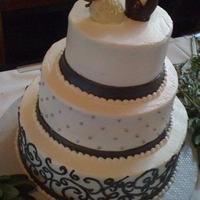 Simple Elegance   Black white and silver details, strawberry toppers