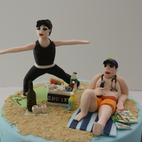 40Th Beach Party   Couple celebrated 40th birthdays. Favorite place is the beach and her have thing to do is yoga.