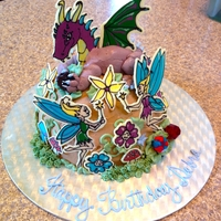 Dragon And Fairies Cake This cake was for a friend who loves dragons and fairies. Inspired by the Whimsical Bakehouse