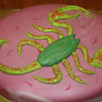 Ang's Bday Cake   Only my Sis would want a neon green/bright pink scorpion cake! TFL!