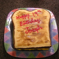 Grilled Cheese Sandwich For My Oldest Sons Birthday He Ate A Whole Loaf Of Breads Worth Of Grilled Cheese Sandwiches Daily At This Age Grilled cheese sandwich for my oldest son's birthday. He ate a whole loaf of bread's worth of grilled cheese sandwiches daily at...