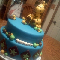 Baby Giraffe A bouncing baby boy is celebrated with this spice and blue velvet cake decorated with MM