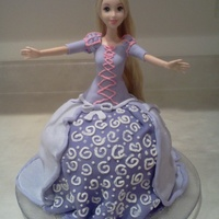 Disney's Repunzel Doll Cake