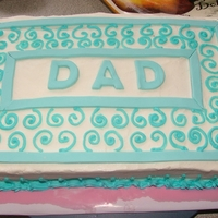 1332705151.jpg cake i done for my father in law, the blue trim is modeling chocolate
