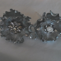 Silver Fantasy Peonies W/broaches
