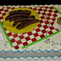 Family Reunion Picnic  This cake was for a family reunion/5oth wedding anniversary. The client said her parents were young at heart and a funloving couple who did...