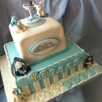 Christening Cake Me To You -blue nose friends inspired cake