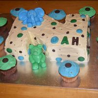 Noah's Cake The cake was made for a friends baby shower. She knew she was having a boy so I used the colours of the nursery to decorate the cake. The...