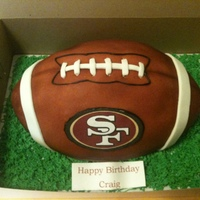 Football Cake   This was my first football, thank you to candicedianeflores fro her help with this cake.