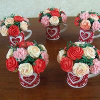 Valentine Bouquet   More cupcake bouquets