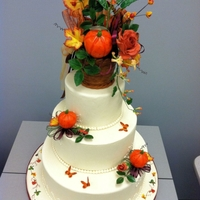 Fall-Themed Wedding Cake Dummy cake I made during a class taught by Nicolas Lodge