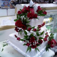 Wedding Cake Real Roses