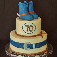 Boots Spurs And Belt 70Th Birthday