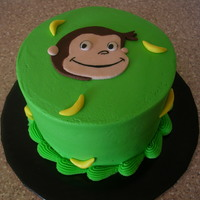 "Curious George Smash cake. (6"")"