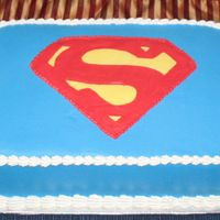 Superman Birthday Cake BC with FBCT
