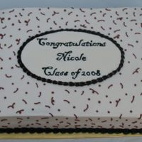 Nicole's Graduation Cake BC with Royal icing plaque