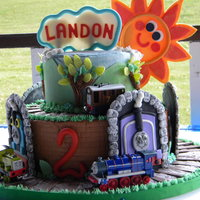 Thomas The Tank Birthday Cake Birthday Boy Loves Trains Thanks To Several From Cc For The Inspiration   Thomas the Tank birthday cake. Birthday boy loves trains. Thanks to several from CC for the inspiration.