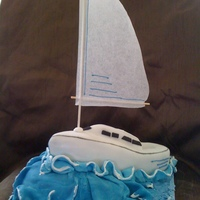 Sail Boat Birthday Cake My friends son wanted a sail boat for his birthday. all made from fondant except the sail which is baking parchment with designed piped...