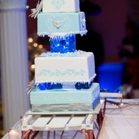 Winter Wonderland Wedding Cake Let it snow,let it snow, let it snow :)