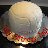 Volley Ball Cake Volley ball cake, butter cream icing.