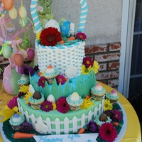 Easter Birthday Cake  This cake was for a birthday on Easter. Each tier is different cake/filling. Top tier is chocolate cake with whipped ganache filling. The...