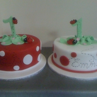 Ladybug Birthday Cake These cakes were made for twin girls to go with the ladybug birthday theme.