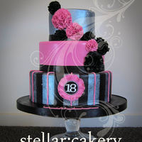 Pink, Silver And Black   Mmmm, chocolate cake .. :)