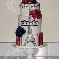 Parisian  Eiffle Tower - design inspired by http://cakecentral.com/g/i/2129273/a/2130273/another-version-of-our-large-eiffel-tower-cake-this-one-with...