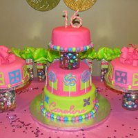 Candy Sweet 16   Cake inspired by invitations and decorations used. TFL