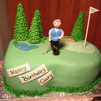 Golf 40Th Birthday   All decorated in Fondant.