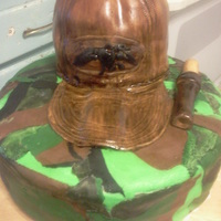 Birthday Cake For My Nephew's 16Th This is my first camo cake. The cake is camo inside and out. The hat is all cake and MMF it is also hand painted. I hand made the logo for...