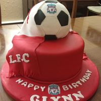 Liverpool Theme Birthday Cake I Made For My Husband Liverpool theme birthday cake I made for my husband.