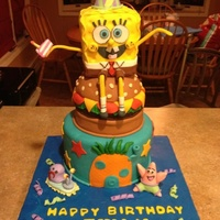 I Made This Cake For My Sons 7Th Birthday Spongebob Is Rice Krispie I made this cake for my sons 7th birthday. Spongebob is Rice Krispie
