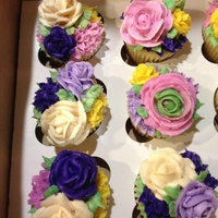 Buttercream Flower Cupcakes For My Sisters Birthday Buttercream flower cupcakes for my sisters birthday