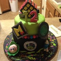 80S Themed Cake I Made For My Daughters Birthday 80's themed cake I made for my daughters birthday