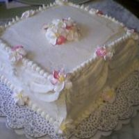 "1St Wedding  This is my 1st ""wedding"" cake (Pic size updated)for a very small informal party for some friendsWasc with serious cakes BC-filled..."