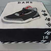 Boy's Birthday Cake   A cake for someone who likes Michael Jordon shoes!