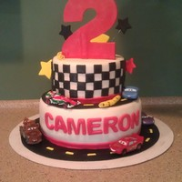 Cars Race Track Cake! Thanks to Sharon Zambino who inspired me to attempt to recreate her cake. Obviously nowhere near her perfection, but I tried!! TFL!