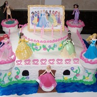 Disney Princess Cake Thanks to CC users especially Tat for the inspiration for this cake. The cake is strawberry with buttercream icing. It is a 12 inch 2 layer...