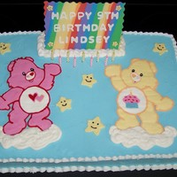 Care Bears Birthday Cake This was for my cousin's birthday. She requested that I make her a plaque like I did for her little brothers Spongebob cake (pic is in...