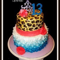 Completely Designed By The Birthday Girl Herself She Has A Flair For The Dramatic Hand Painted Cheetah On Fondant Ombre Petals Fondant Completely designed by the birthday girl herself. She has a flair for the dramatic. Hand-painted cheetah on fondant; ombre petals, fondant...