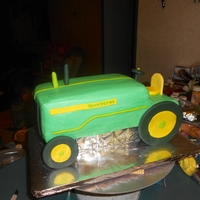 John Deere   mostly buttercream, with fondant accents