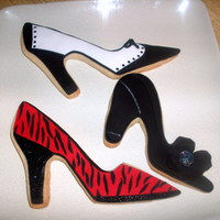 Shoe Cookies For Project Ladybug Wine, Women & Shoes fundraiser for Children's Cancer Research
