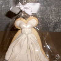 Wedding Dress Favor Cookies