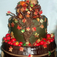 Barrel Of Apples Fall Themed Cake All Fondant Decorations Barrel of Apples - Fall themed cake all fondant decorations.