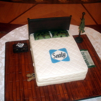 Sealy Mattress Grooms Cake The wedding couples last name is Sealy. The groom is in the army and he loves it so the bride wanted the cake to be decorated with his...