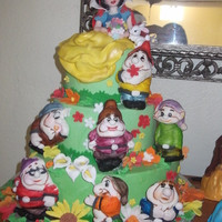 Snow White Cake snow white is made out of gumpaste and fondant