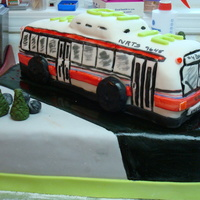 Bus Cake this was for my friends handicapped brother-in-law's birthday he loves buses but the bus had to be made of rice krispie treats so he...