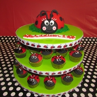 Lady Bug First Birthday For Addison Lady bug cake and cupcakes. TFL